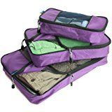 #2: TravelWise Packing Cube System  Durable 3 Piece Weekender Set [2014 Version]