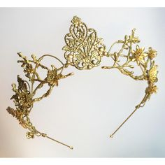 The EFFIE Crown Woodland Vintage Flower Tiara Headband. Steampunk,... ($75) ❤ liked on Polyvore featuring accessories, hair accessories, floral crown headbands, bride headband, tiara crown, floral garland and flower wreath headband