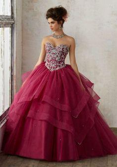 Maroon Quinceanera Dresses 59