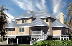 Peaks Cottage - Piling Foundation, 2619 SF - Southern Cottages House Plans - Architect Michael R. McLeod
