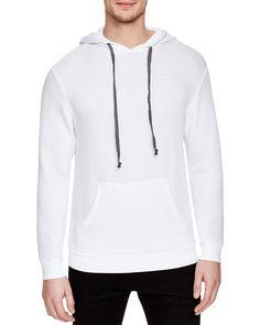 Catch the vibe in this long sleeve hoodie from Goodlife. A classic drawstring design gets a new take with a cotton/spandex blend fabric.