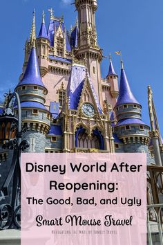 Disney World After COVID Reopening: What Visiting Disney World Is Really Like Right Now - Smart Mouse Travel Disney World Florida, Disney World Parks, Disney World Planning, Walt Disney World Vacations, Disney World Tips And Tricks, Disney Tips, Disney Magic, Road Trip Adventure, Disney California Adventure
