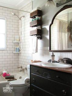 Budget-Friendly Farmhouse Style Bathroom Makeover by Prodigal Pieces www.prodigalpieces.com #prodigalpieces