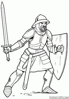 Download Or Print Out The Coloring Page Knight In Light Armor
