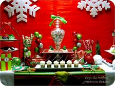 Christmas Candy Buffet Table www.spaceshipsandlaserbeams.com