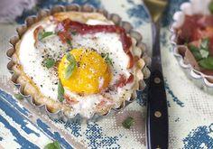 Miniterte med egg og bacon - Elin Larsen