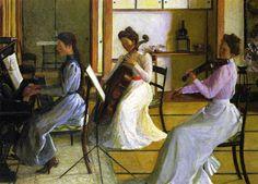 Lilla Cabot Perry (1848-1933, USA) - The Trio, Tokyo, Japan - 1901 - Fogg Museum of Art - Harvard University