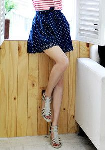 Silk Polkadot Culottes @ $29 SGD only! (Available in: Pink, Navy)