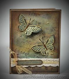 Memory Box Moonlight Butterfly die (98260) and Kaleidoscope Butterfly die (98261) from the Outside the Box blog