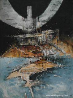 "Konstantin Batynkov ""Cartography"", acryl on vinyl paper, Vinyl Paper, Russian Art, Cartography, Moscow, Sailing Ships, Maps, Contemporary Art, Art Gallery, Sky"
