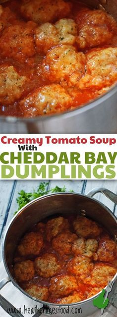 What's better than a bowl of creamy tomato soup on a cool fall day? Um... how about a bowl of tomato soup topped with cheesy garlic…