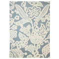 Threshold™ Wool Floral Area Rug - Blue/Cream