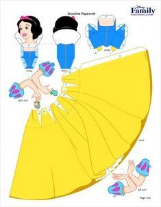 입체 종이접기 도안, 디즈니공주 페이퍼토이 총정리 오늘 제가 소개할 내용은 바로 월드 디즈니 공주 페이... Disney Diy, Disney Crafts, Paper Toys, Paper Crafts, Paper Art, Diy For Kids, Crafts For Kids, Heros Disney, Disney Paper Dolls