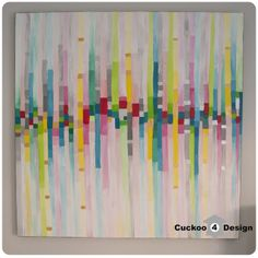 abstract static sound waves painting #diy #painting