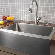 33-inch 16 Gauge Stainless Steel Farm Apron Well Angled Single Bowl Kitchen Sink - Overstock Shopping - Great Deals on Kitchen Sinks