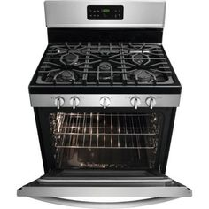 Frigidaire Gallery 30 in. Gas Range with Self-Cleaning QuickBake Convection in Stainless Steel-FGGF3035RF - The Home Depot