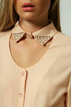 Eve Beaded Collar Detail Cut Out Blouse Kurti Sleeves Design, Sleeves Designs For Dresses, Neck Designs For Suits, Kurta Neck Design, Neckline Designs, Dress Neck Designs, Collar Designs, Collar Kurti Design, Kurti Back Neck Designs