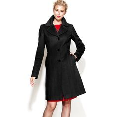 Black Wool & Cashmere Notched Walking Coat ***Reasonable Offers Welcome *** - Notch collar - Button closures at front - Long sleeves - pockets at hips - Geo-print lining - Mid-weight - Slit at back hem - Hits at knee; approx. 37 1/2 inches long - 60% Wool/20% Nylon/20% Cashmere; lining: polyester - Dry clean Anne Klein Jackets & Coats Pea Coats
