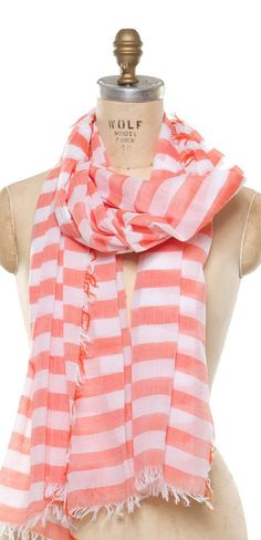 STRIPES LOVE! 15% off with my code DESIGNER15 - If you like stripes and neutral tones you'll love this soft sustainable cotton scarf by @naturallyknotty - perfect for summer, spring, winter or fall.