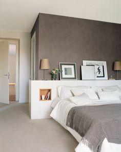 Chambre taupe et couleur lin, idées déco ambiance zen   Couleur ...