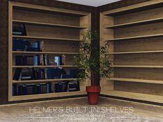 Helmer's Built In Shelves Modular Walls, Modular Shelving, Sims 4 Cc Furniture, Furniture Sets, Around The Sims 4, Teen Decor, Sims 4 Build, Bookshelves Built In, Sims House