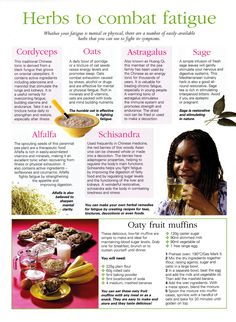 Herbs:  #Herbs to Combat Fatigue. Natural Herbs, Natural Healing, Natural Medicine, Herbal Medicine, Herbal Remedies, Natural Health Remedies, Wiccan, Magick, Witchcraft