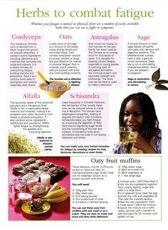 Herbs:  #Herbs to Combat Fatigue.