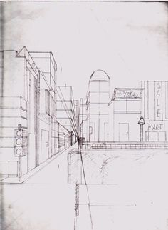 city in one point perspective | City: One-Point Perspective by TheRebelPhoenix