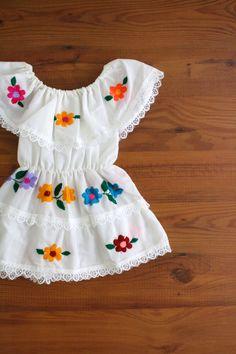 Toddler Mexican Peasant Dress.  So Cute!