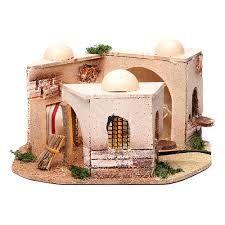 Casa árabe belén iluminada de corcho 15x25x10 cm | venta ...