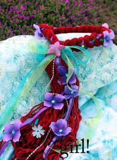 Custom Mermaid hair crown halo braid by boutiqueolliegirl.