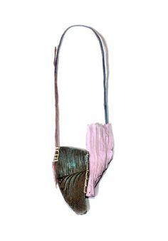 Myung Urso. Necklace: Ravenstein, 2015. wood, thread, pigment. 48 x 12.5 x 1.5 cm. Photo by: Myung Urso.