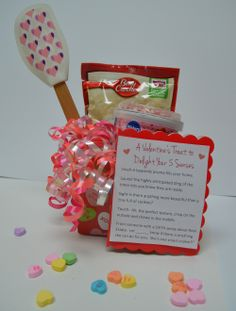 """Valentine's Day Pop-By idea: """"A Valentine's Day treat to delight your 5 senses."""" Ingredients + recipe of your favorite cookies."""