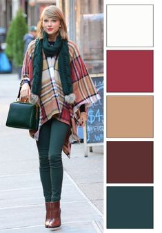 Outfit fall color type colors Wedding Planning Insights: How To Plan The Perfect Wedding Day Art Colour Combinations Fashion, Color Combinations For Clothes, Fashion Colours, Colorful Fashion, Color Combos, Fall Fashion Outfits, Autumn Fashion, Magazine Mode, Warm Autumn
