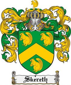 Skereth Coat of Arms Skereth Family Crest Instant Download - for sale, $7.99 at Scubbly