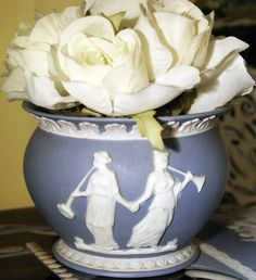 Jasper Blue Wedgwood Vase