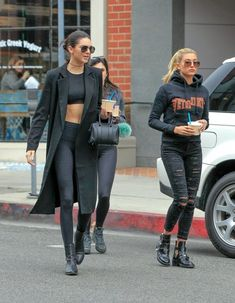 Kendall Jenner Photos: Kylie Jenner and Hailey Baldwin's Black Outfits