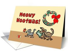 Christmas from Dog and Cat card