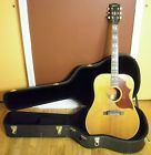 1968 Gibson Country Western SJN Acoustic Guitar wCase Southern Jumbo Natural USA