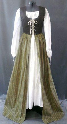 Irish dress, lace-up front
