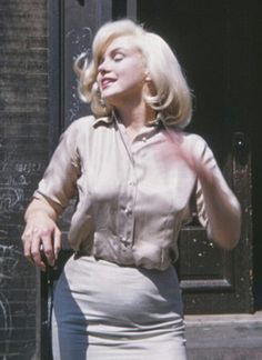 """Marilyn during the filming of """"The Misfits"""", 1960."""