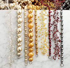 Vintage Glass Garland - Love the clear beads