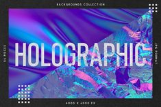 Holographic Backgrounds Collection by MiksKS on @creativemarket