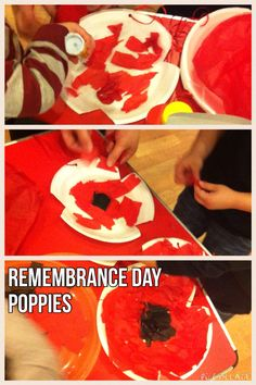 Paper plate poppies - great for tots! & Paper Plate Poppy Craft for Preschool | Craft Activities and School