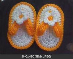 Crochet Baby Slipper