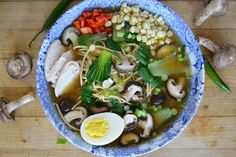 Miso Ramen with Shitake and Chicken is packed with protein and all the health benefits of miso paste