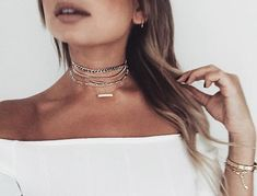 Choker Chains • shop my everyday chokers and get the look for less (links on weworewhat.com today)