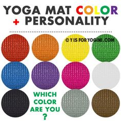 best color yoga mat for your personality! color meanings + poses + chakras + more. find out your color! :)