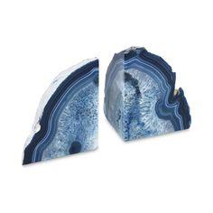 Agate Bookend Set in Blue | Dear September | Coastal Dream | Travelshopa