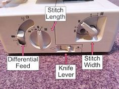 Learn how to set up your Brother 1034D Overlocker or Serger.